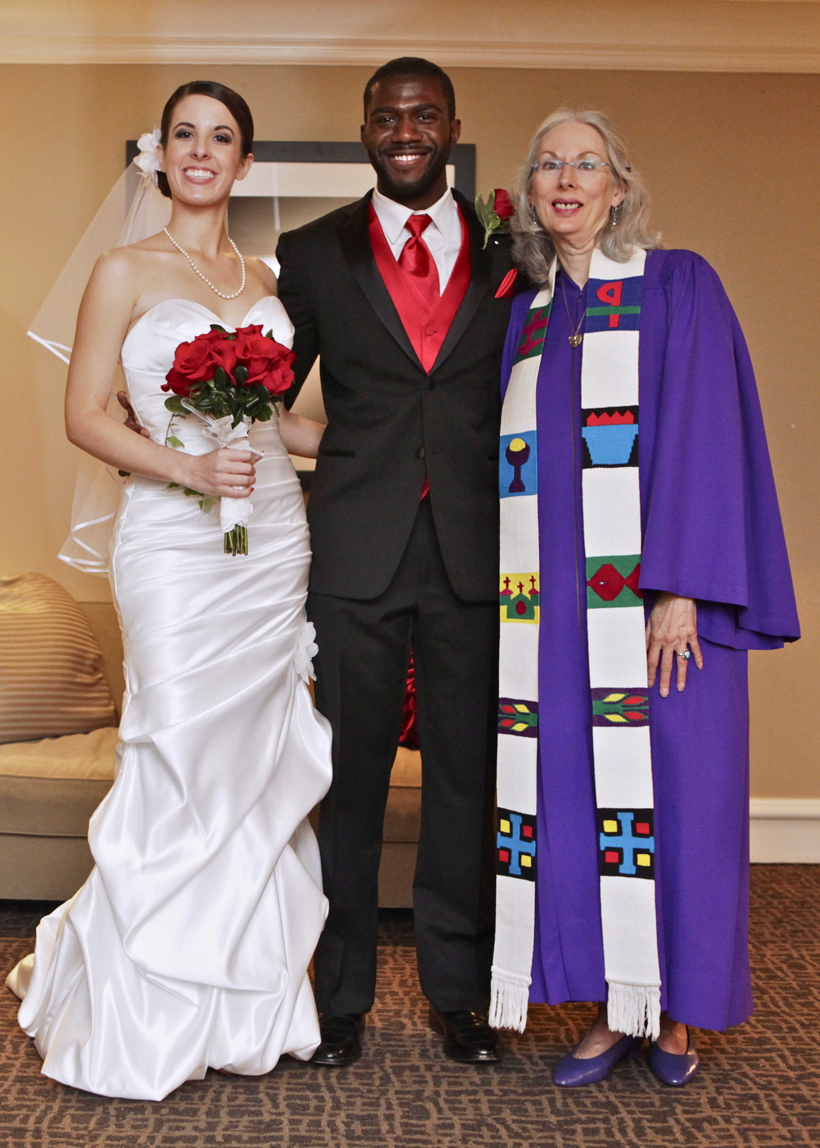 David and Raebekah and Rev Janice Rost